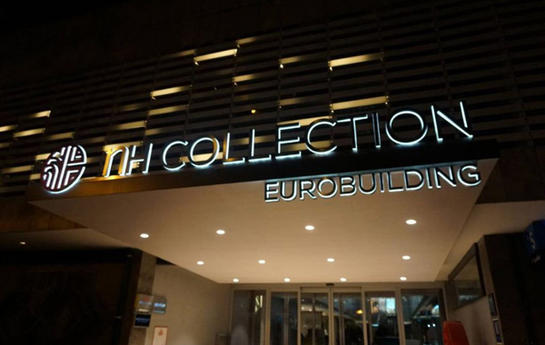Hotel NH Collection Eurobuilding en Madrid de noche